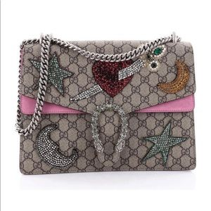 Gucci dyonisus sequin embellished gg coated medium